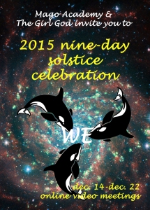 nine day solstice celebrarion poster